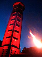 Illumination Glockenturm St. Eli Saarbrücken